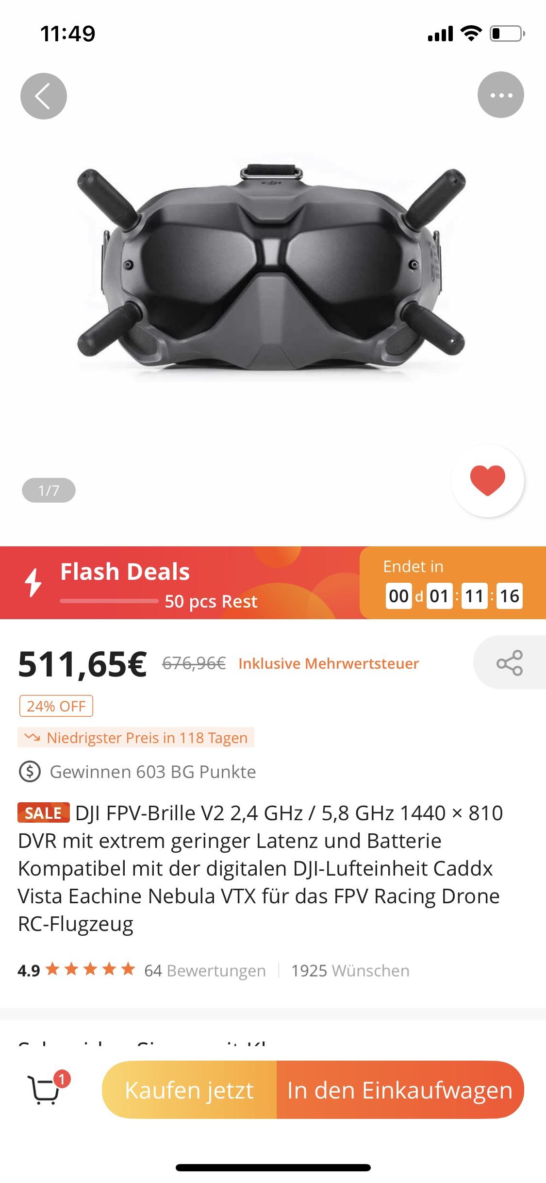 [BANGGOOD] DJI FPV Goggles V2 FPV-Brille