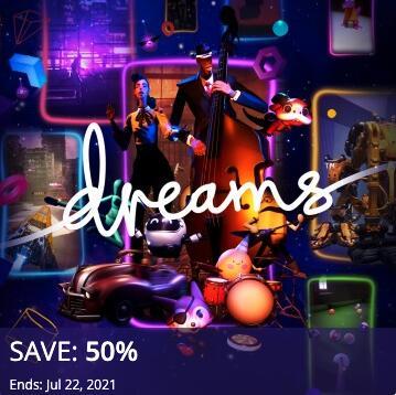PSN - Dreams (PS4) für 8,41 € im US-Store (9,17 € im CA-Store)