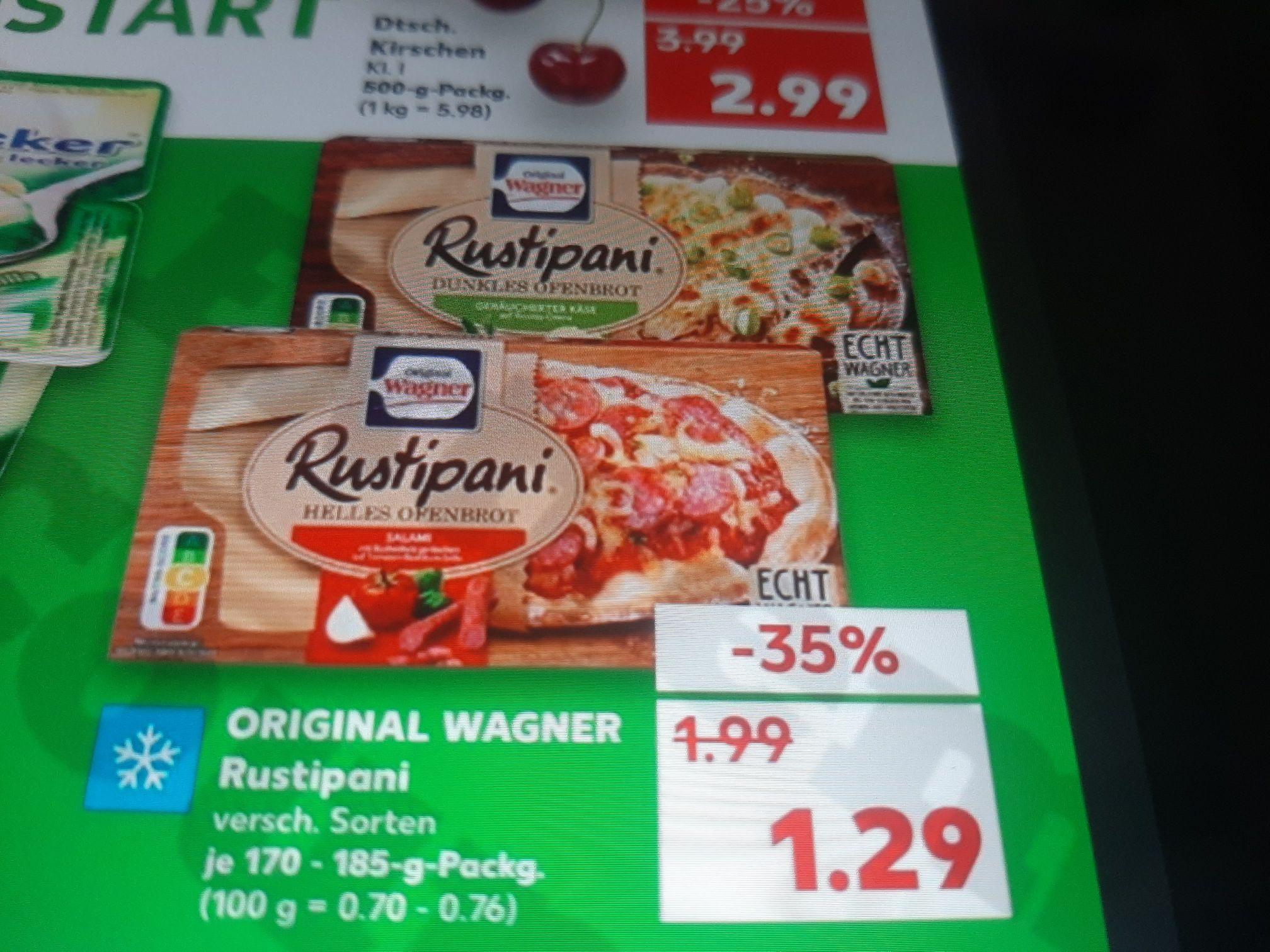 Kaufland ab 19.07.2021 Wagner Rustipani Dank Coupon nur 0.79€
