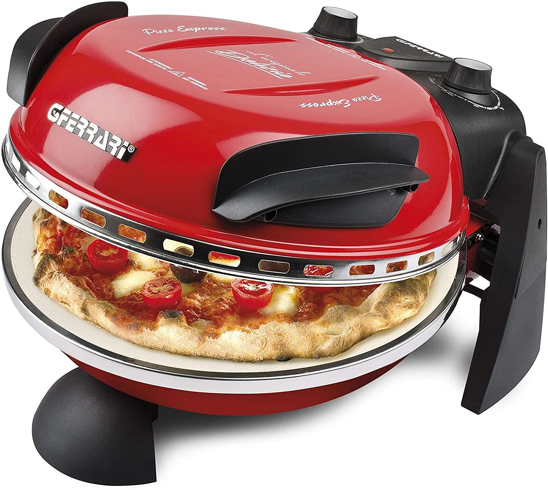G3Ferrari Delizia G10006 Pizzaofen (1200W, bis 400°C, Natursteinboden, 5min Backzeit für frische Pizza oder 3min für TK)