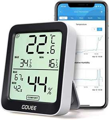 [Amazon Prime] Govee Thermometer / Hygrometer ( LCD-Anzeige, Digital, Benachrichtigungs Alarm, Präzise Hygrometer, SHT30-Sensor )