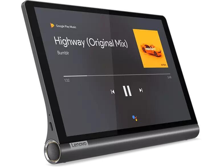 "Lenovo Yoga Smart Tab WiFi (10.1"", 1920x1200, IPS, SD439, 3/32GB, microSD, 7000mAh, USB-C, Google Assistant mit 3 Mikrofonen, Android 10)"