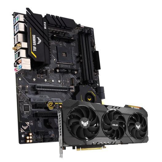 ASUS TUF GeForce RTX 3080 OC 10GB GDDR6X Grafikkarte + ASUS TUF Gaming X570-Pro (WI-FI) Mainboard Bundle