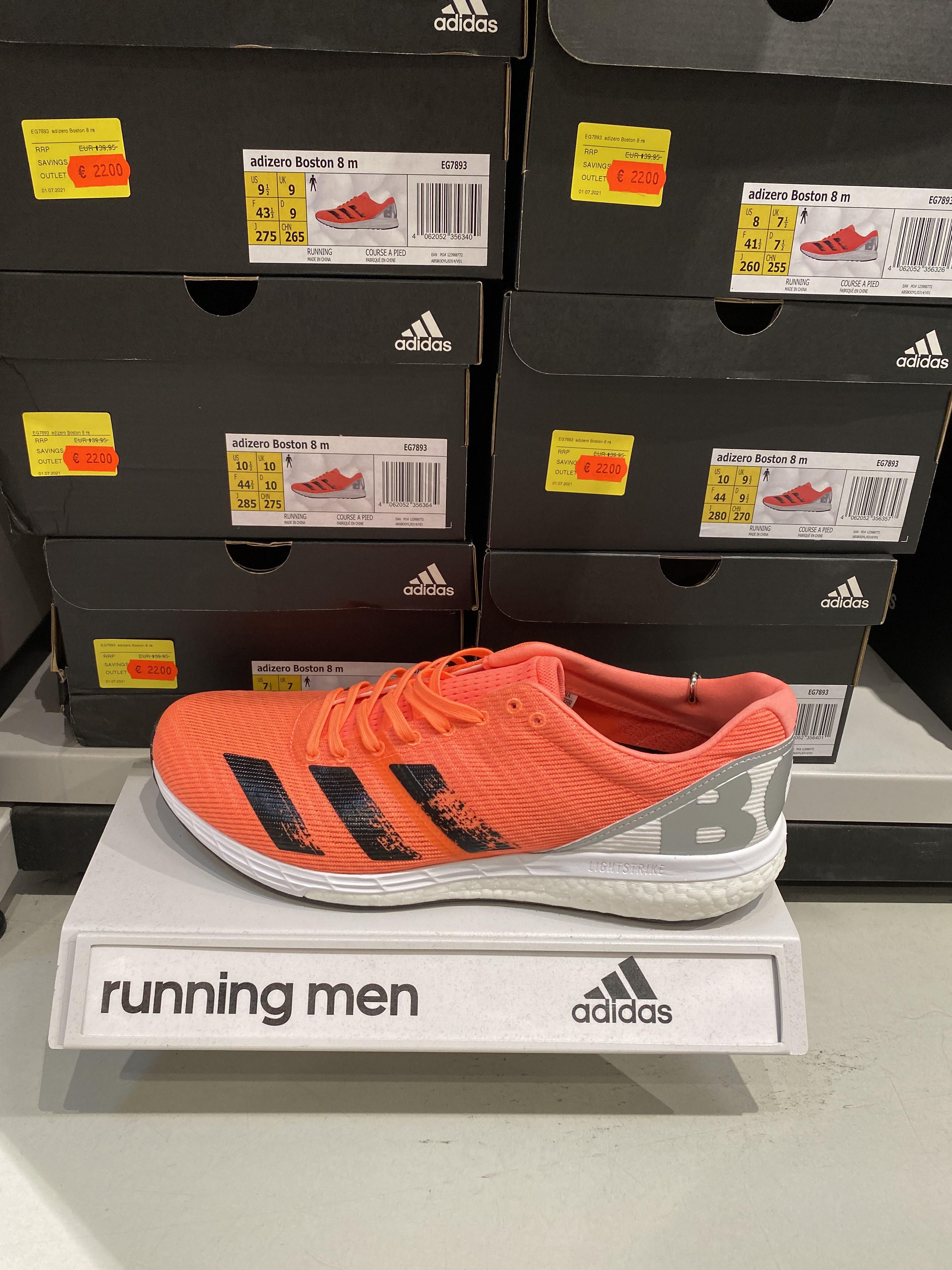 Lokal - [Adidas Outlet Bremen/Brinkum] Adidas Adizero Boston 8 Herren Laufschuhe 22€