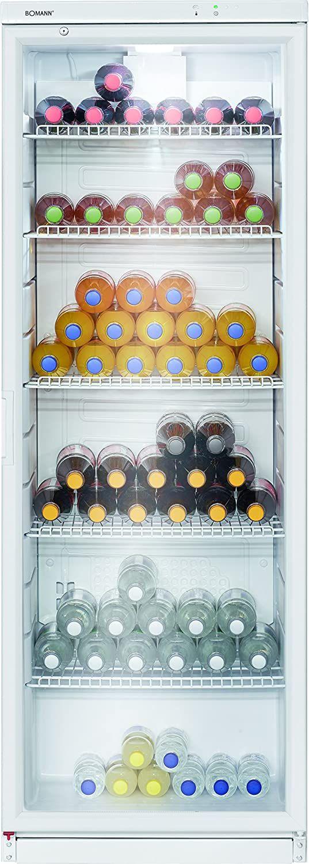 Bomann KSG 239 Getränke-Kühlschrank (320L, Glastür, LED-Beleuchtung)