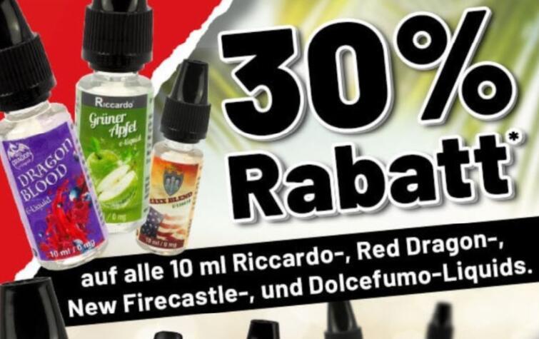 Riccardo mit 60% auf VMC Longfills und 30% auf Liquids der Hausmarke