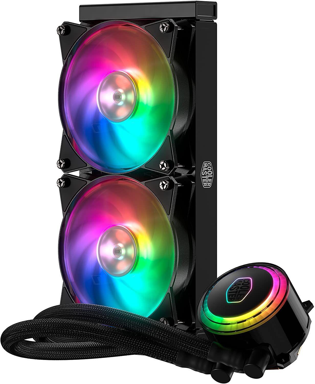 Cooler Master MasterLiquid ML240R RGB-CPU-Wasserkühler (2x 120 mm ARGB-Lüfter, 650-2000 rpm, 113.3m³/h)