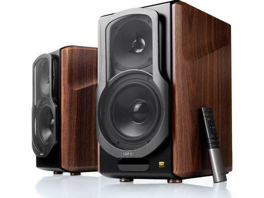 Edifier S2000 MKIII 2.0 Regallautsprecher 130 Watt (aktiv, aptX Bluetooth, 48 - 20.000 Hz, inkl. Fernbedienung) [Paarpreis]