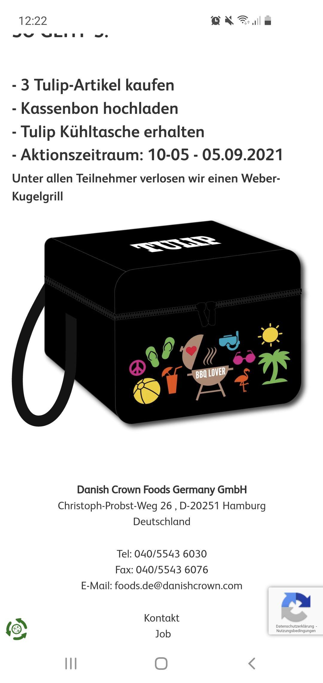 Gratis Kühltasche beim Kauf von 3x tulip Produkten