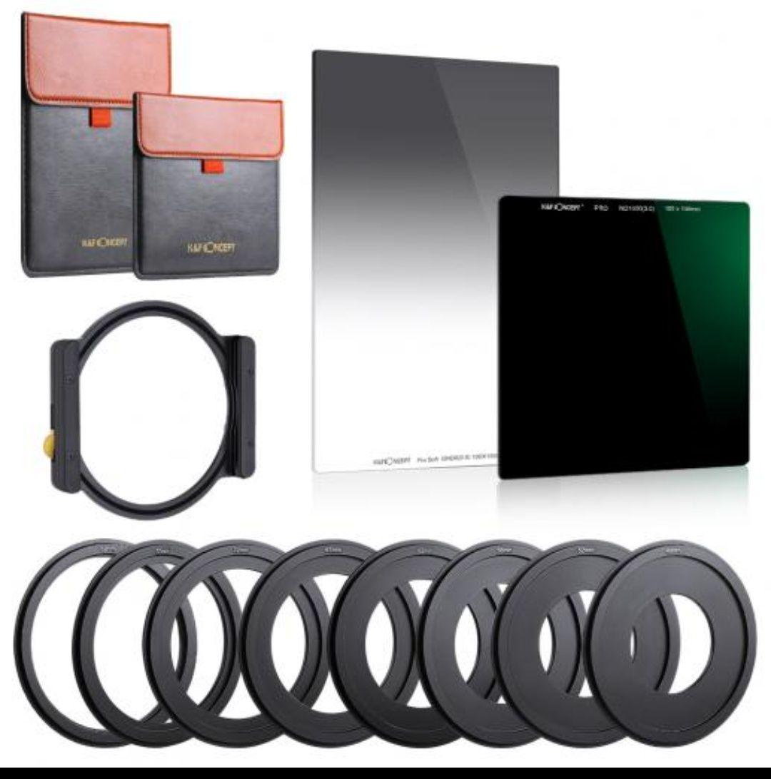 Filter Set - K&F Rechteck-Filter ND1000 + GND8 + Adapter