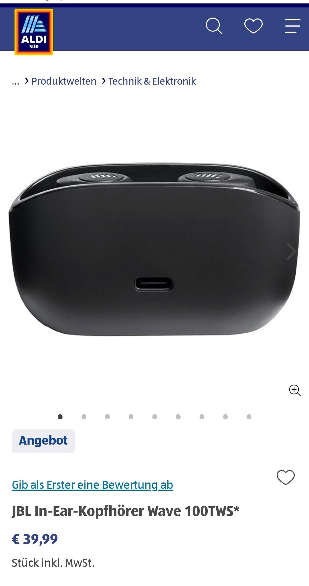 [Aldi Süd] JBL In-Ear-Kopfhörer Wave 100TWS