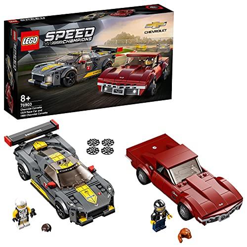 LEGO 76903 Speed Champions Chevrolet Corvette C8.R & 1968 Chevrolet Corvette AMAZON