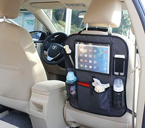 BabyDan Auto-Rückenlehnenschutz mit Organizer und Tablet-Halter, 7 Staufächern, 2 Flaschenhalter, grau [Amazon Prime]