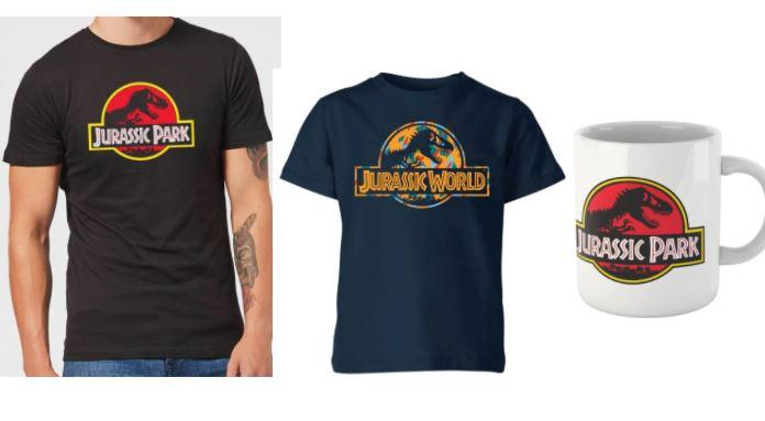Jurassic Park 2 T-Shirts (Erwachsene + Kinder) + 1 Tasse + gratis Versand