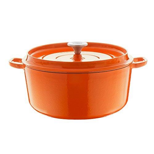 Amazon - Berndes Bräter /Topf, Gusseisen, orange, 24 cm