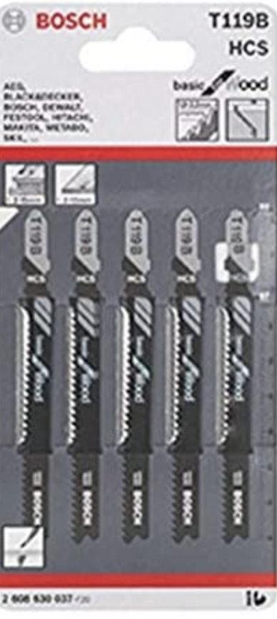 (Amazon Prime) Bosch Professional Stichsägeblatt 10 Stichsägeblätter T 119 B