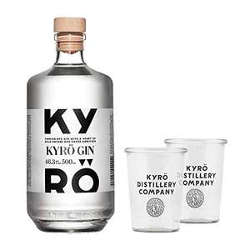[Amazon Prime] Kyrö Napue Rye - Rggen - Gin 46.3% (1 x 0,5l) + 2 Gin Tonic Gläser