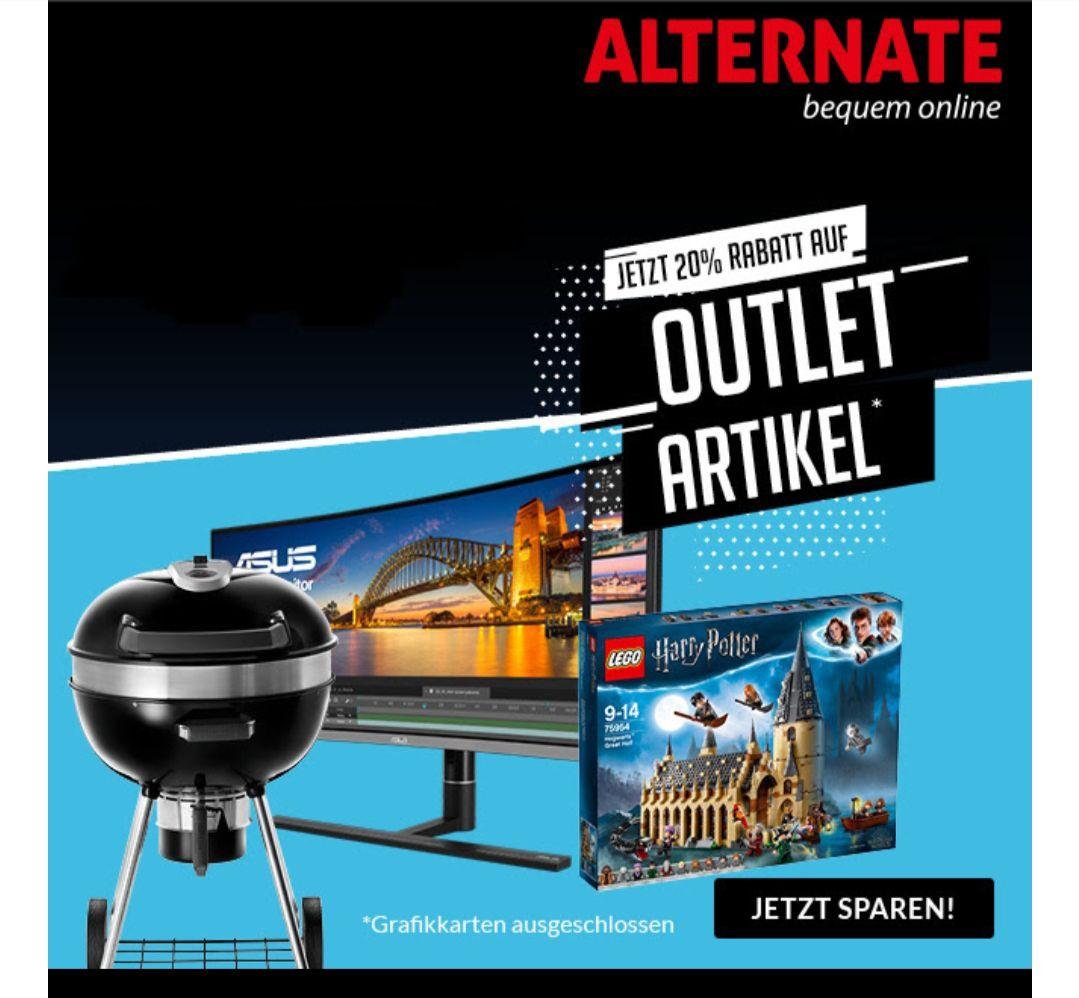 20% Extra-Rabatt auf Outlet Artikel bei ALTERNATE