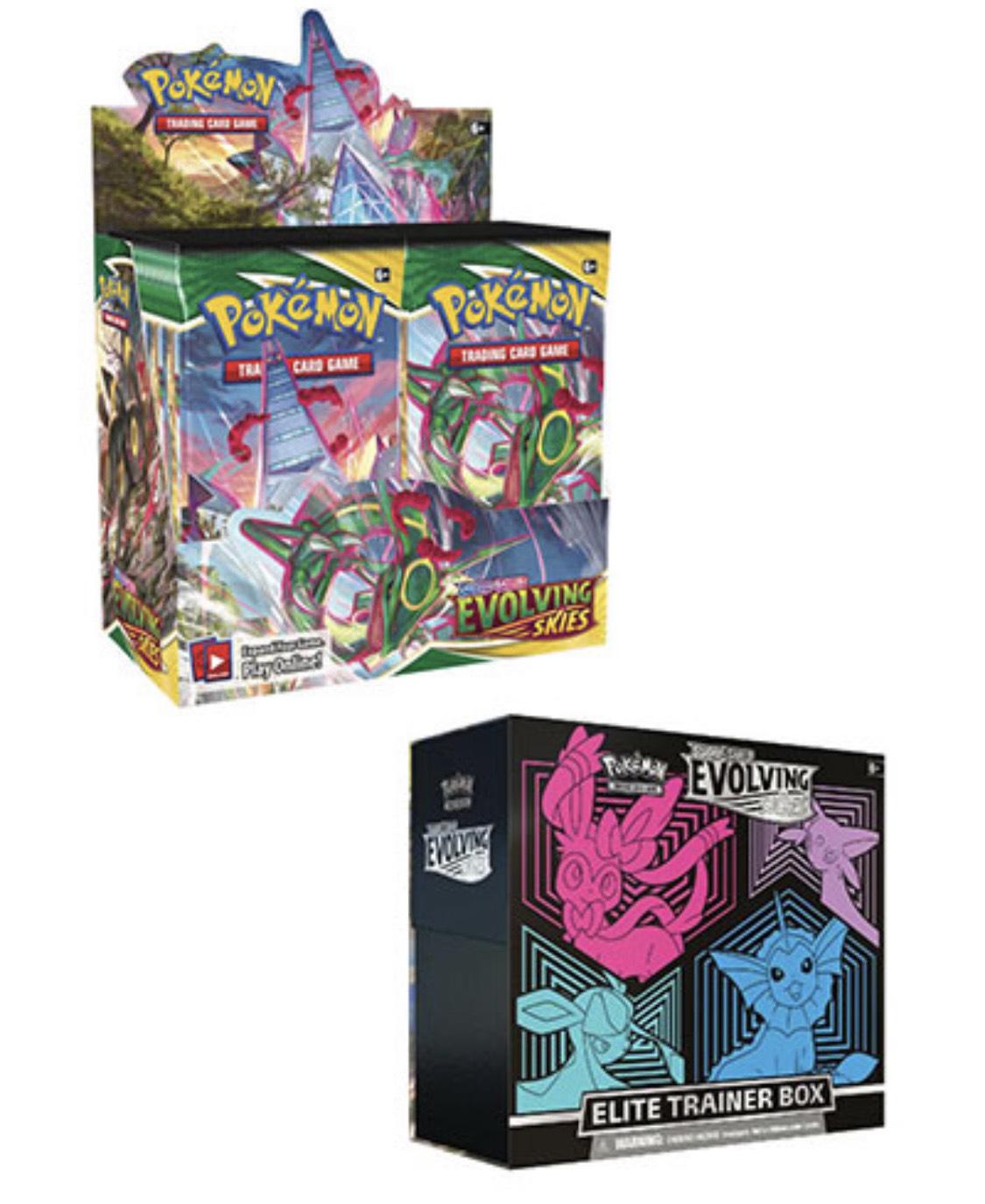 Pokemon Evolving Skies Booster Box und Elite Trainer Box Kombi Deal (unter UVP)