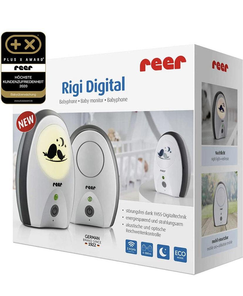 [Amazon UK] reer 50070 Babyphone Rigi Digital – abhörsicher, strahlungsarm, Nachtlicht, Gegensprechfunktion