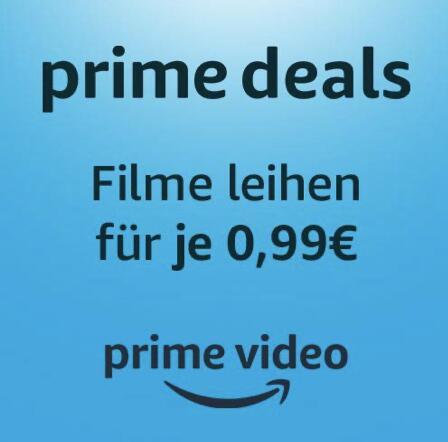 Amazon Prime: Filme für 0,99€ leihen