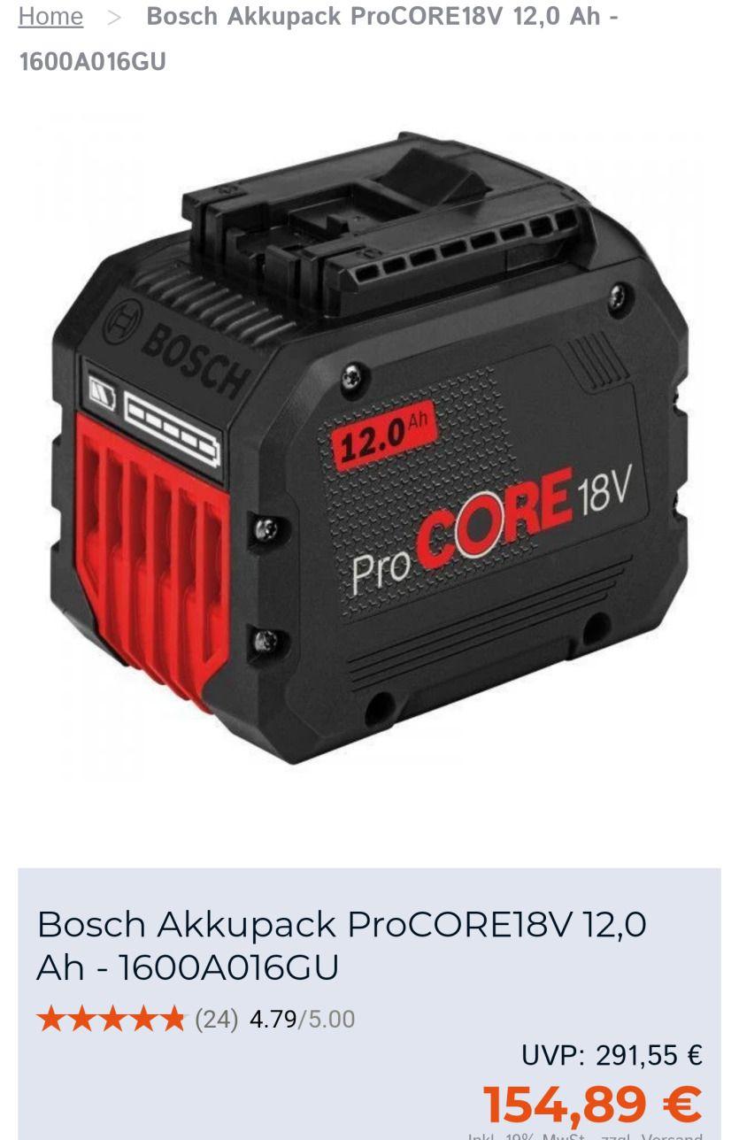 Bosch Pro Core Akku 18V 12Ah