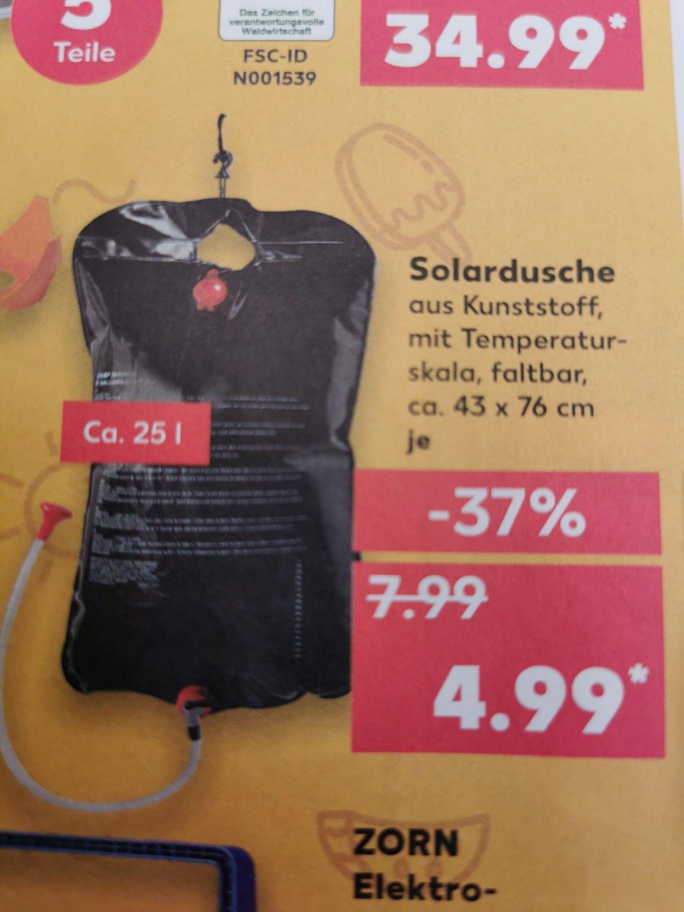 Warmwasser-Solardusche bei Kaufland