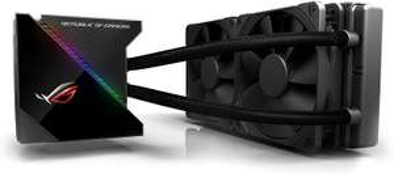 ASUS ROG Ryujin 240 All-in-One CPU-Wasserkühlung (1,77 Zoll OLED-Display, Aura Sync RGB, Noctua iPPC 2000 PWM 2 x 120 mm Radiatorlüfter)