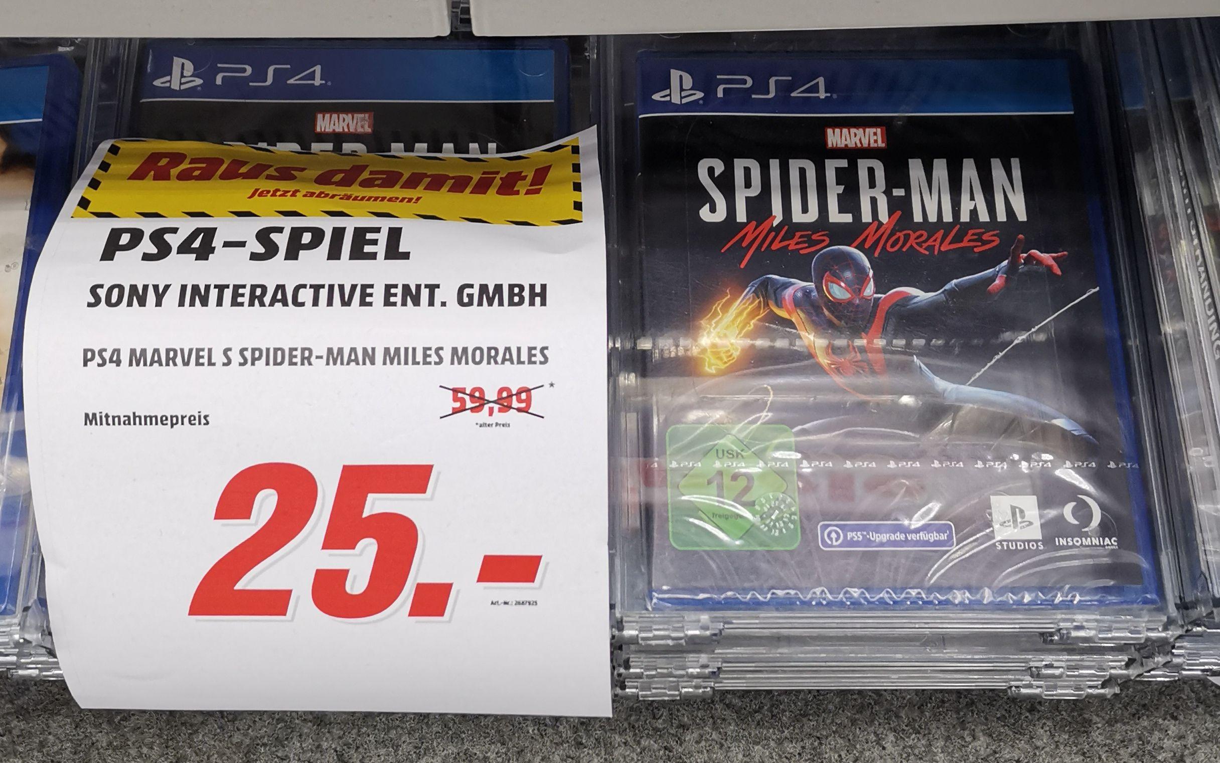 [Lokal Media Markt Gifhorn] Spider-Man Miles Morales, Crash Bandicoot 4: It's About Time & Sackboy - A Big Adventure (PS4) für jeweils 25€