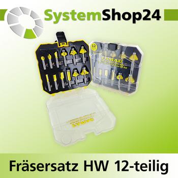 FAMAG HM-Fräser Satz Profi line 12-tlg in Kunststoffbox (3382.812)