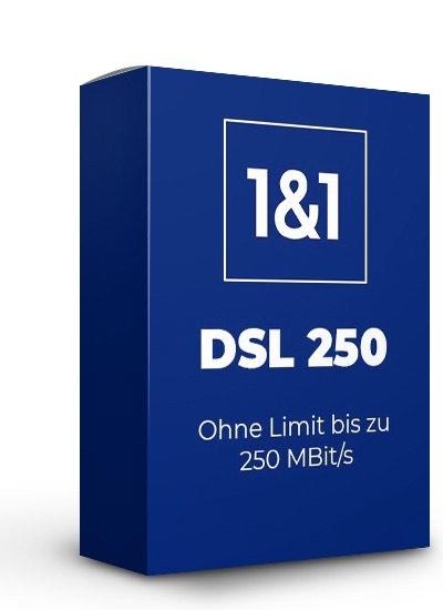 [cb / ohne cb] 1&1 DSL 250MBit/s eff. 19,58 / 100MBit/s eff. 15,83 pro Monat