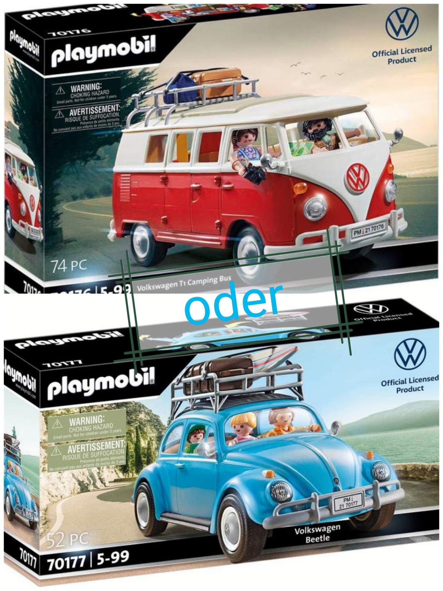[Vk frei über App Bestellung] Playmobil Volkswagen Käfer (70177) für 25,49€ oder T1 Camping Bus (70176) für 31,44€ [Amazon ist mitgezogen]