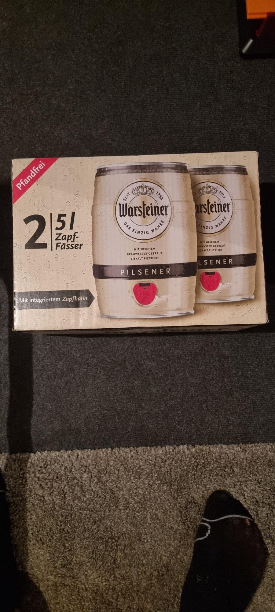 Porta Braunschweig und Laatzen Partyfass Warsteiner 5L für 4,99 Euro