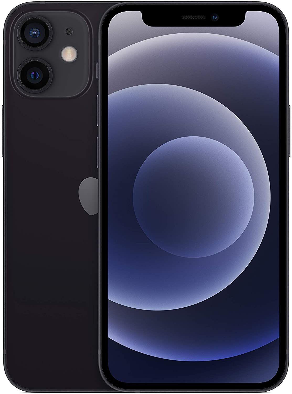 "Apple iPhone 12 Mini 5G 64GB (5,4"" FHD+ OLED, 4GB, A14 Chip, 523K AnTuTu, NFC) in Schwarz"