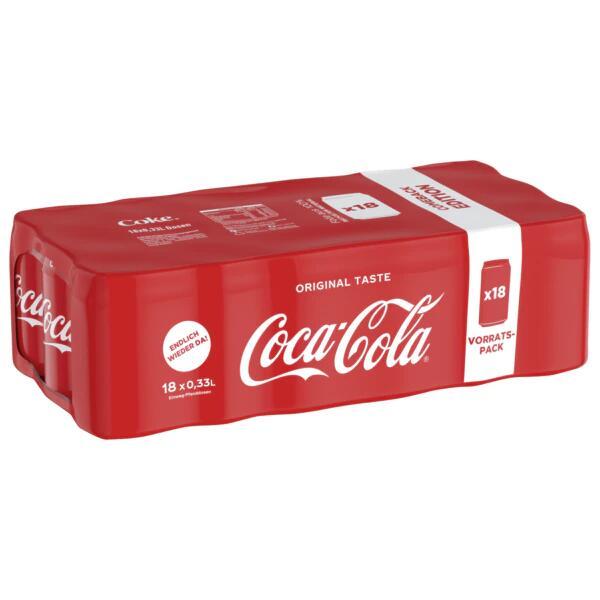 Penny: Ab 15.07. 18 x 0,33 Liter Coca- Cola in der Dose , Literpreis liegt bei 1,01 € , Dosenpreis je 33,2 Cent, auch 1,25 Liter für 0,79€