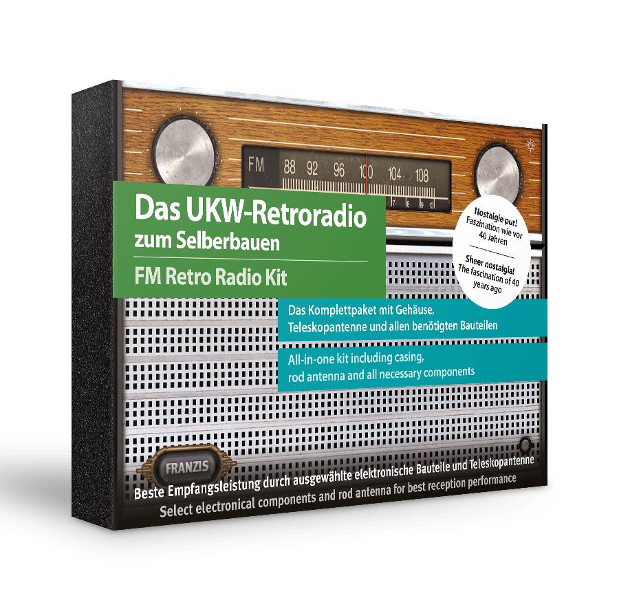 Franzis Das UKW-Retroradio zum Selberbauen FM Retro Radio Baukasten (voll funktionsfähiges Radio mit Teleskopantenne)