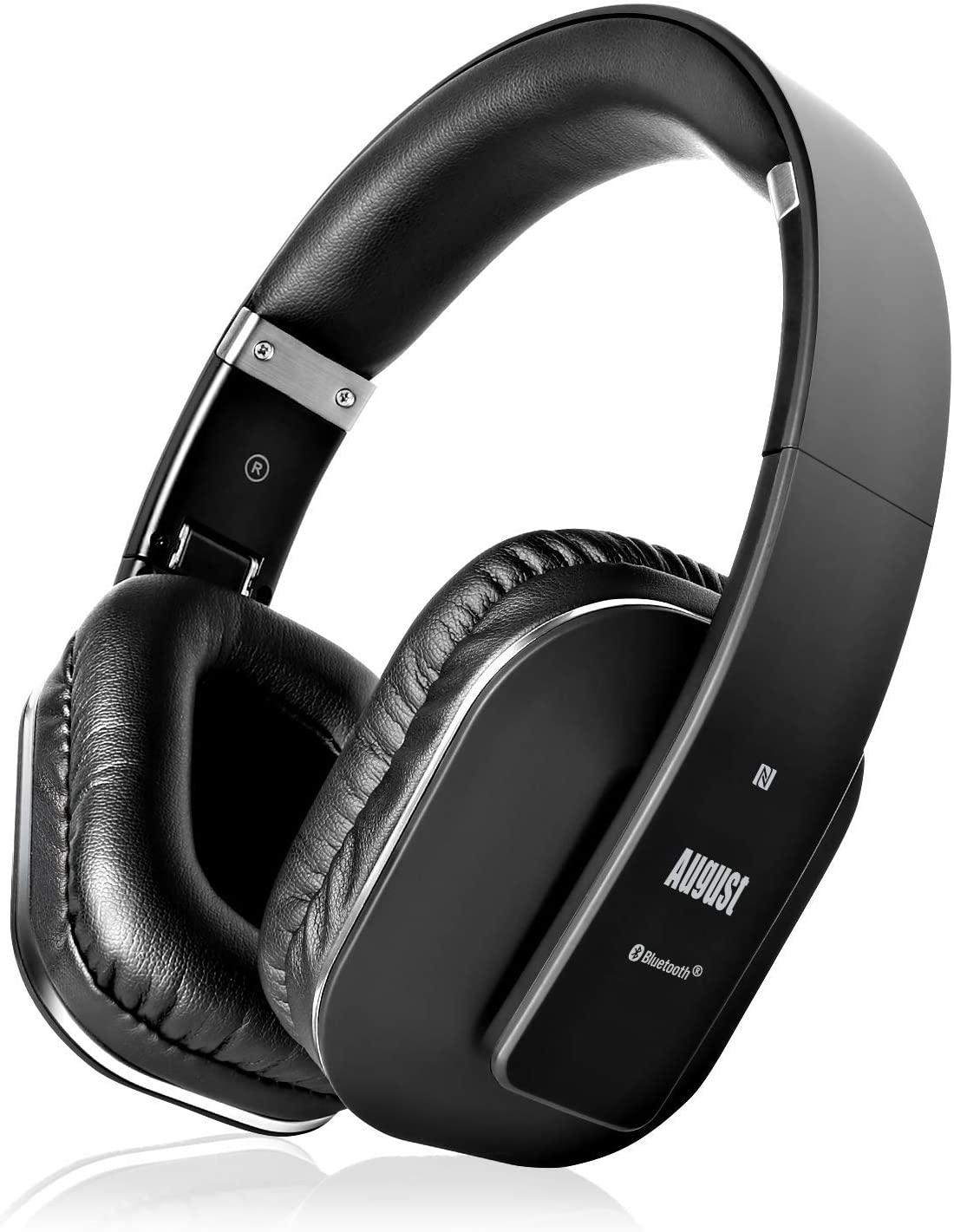 August EP650 - Bluetooth Over Ear Kopfhörer BT v4.2 NFC mit aptX Low Latency, 15h Akku
