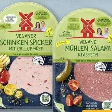 [Rewe] Rügenwalder Vegane Mühlen Salami oder Schinken Spicker für nur 0,99€ je 80g-Packung | ab dem 12.07.