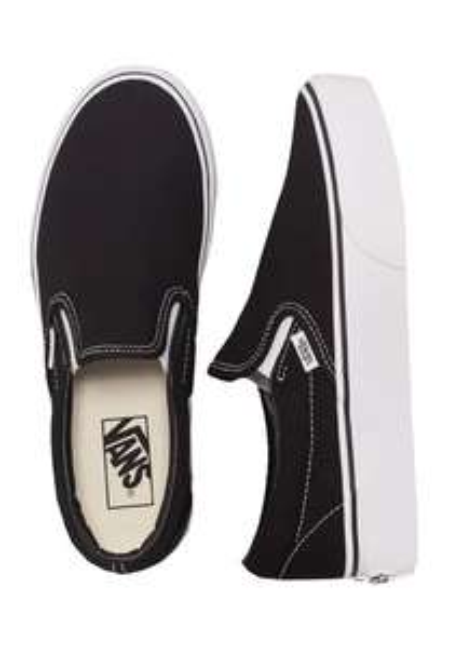 Vans Classic Slip-On Platform Black - Damen Sneakers (Gr. 35 - 41)