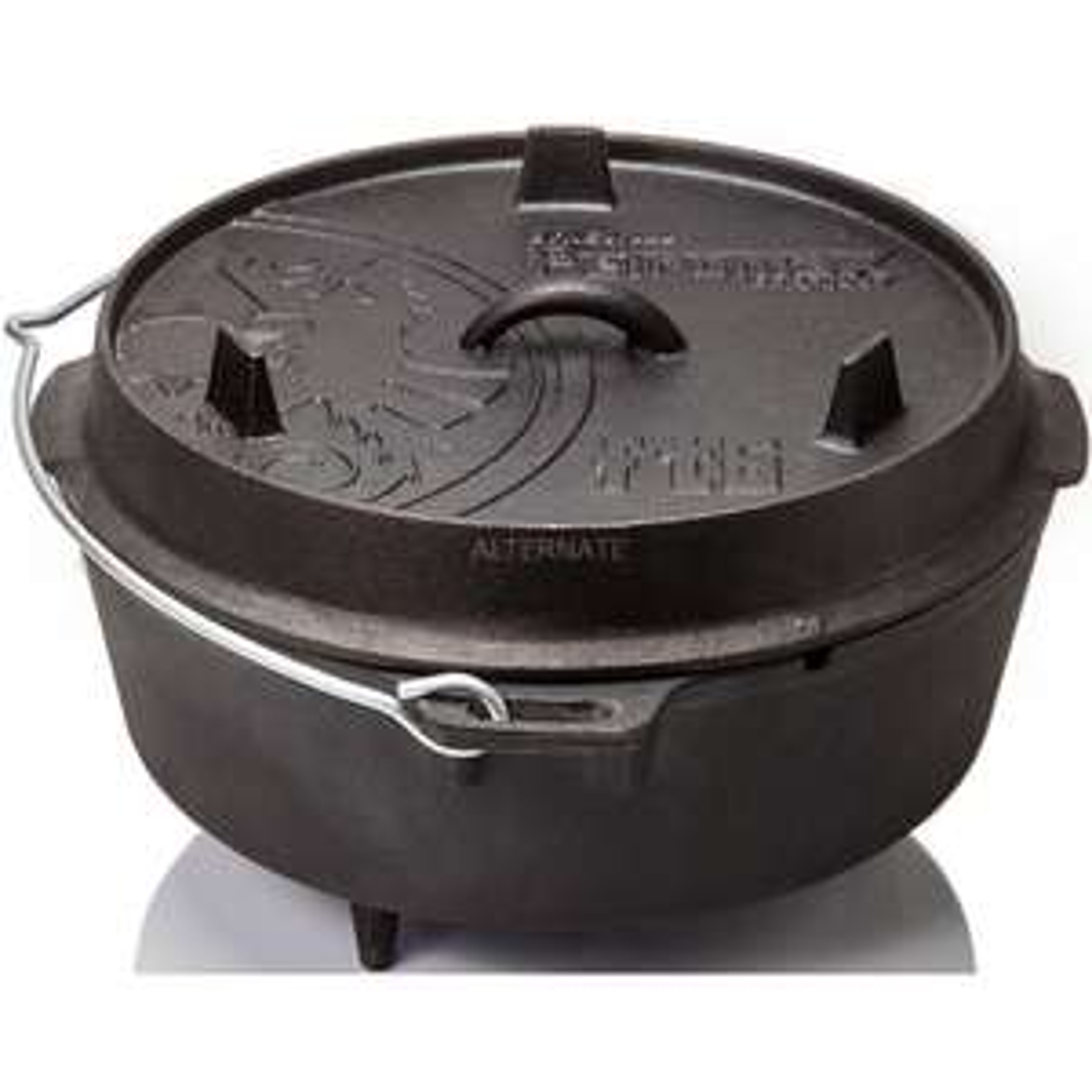Petromax Feuertopf ft6 (Dutch Oven) schwarz, mit Füßen inkl. Petromax Deckelheber