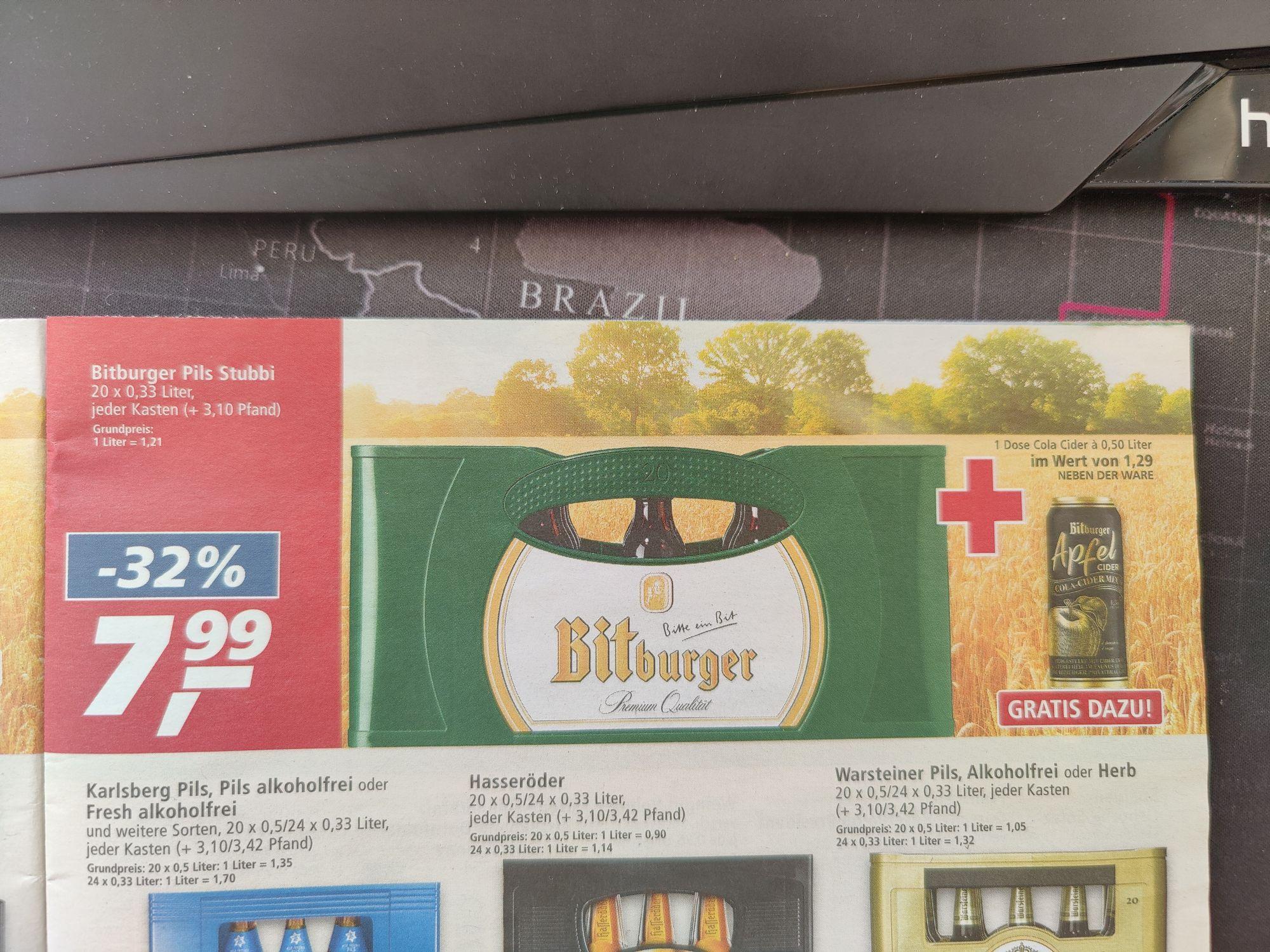 (Real) Bitburger Stubbi Kiste + Cider (Bundesweit? Lokal Trier?)
