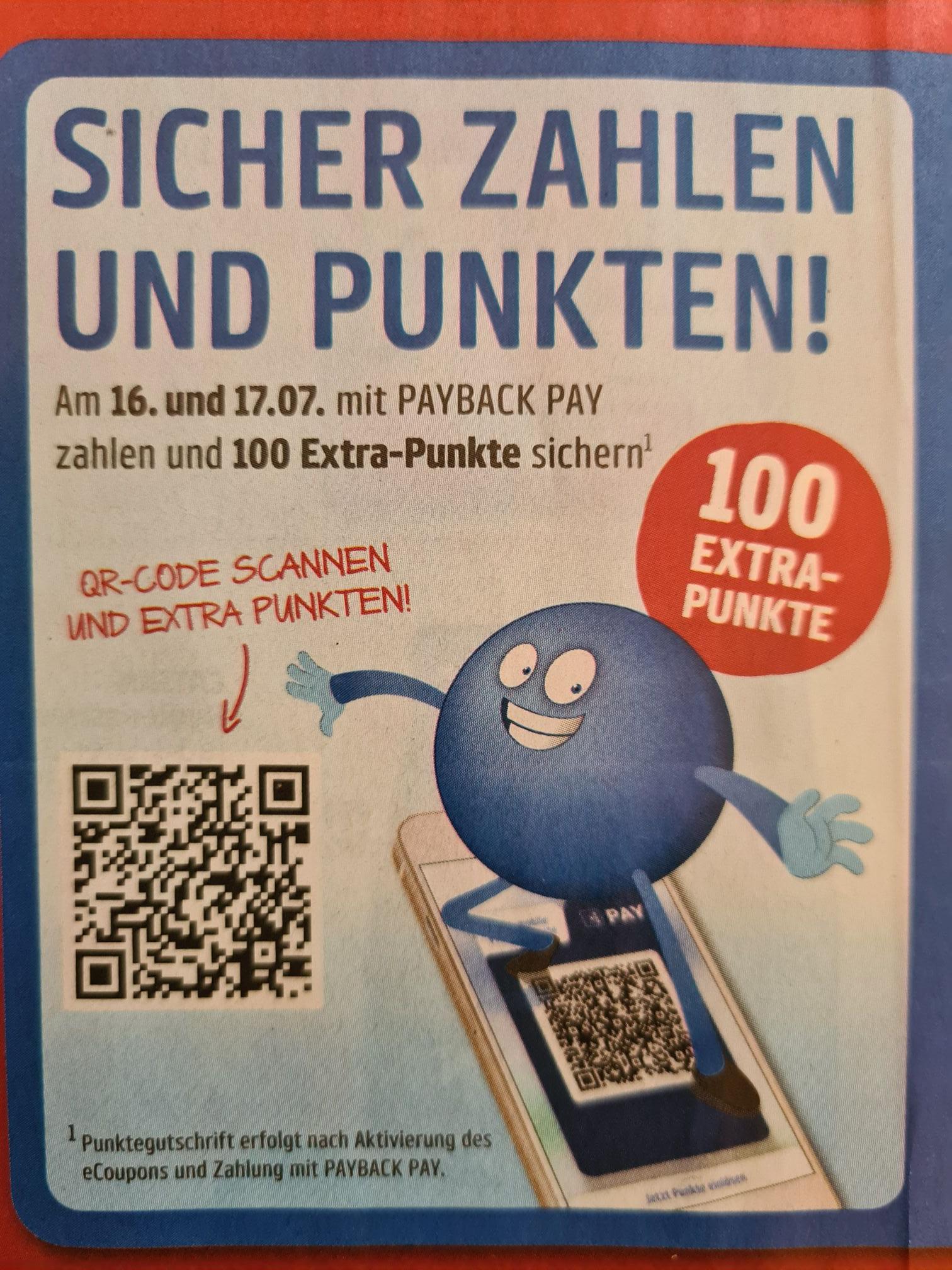 [Penny / Payback Pay] 100 Extra Punkte beim Bezahlen mit Payback Pay bei Penny; Mindestumsatz 2€ (Aktion gültig heute und morgen)