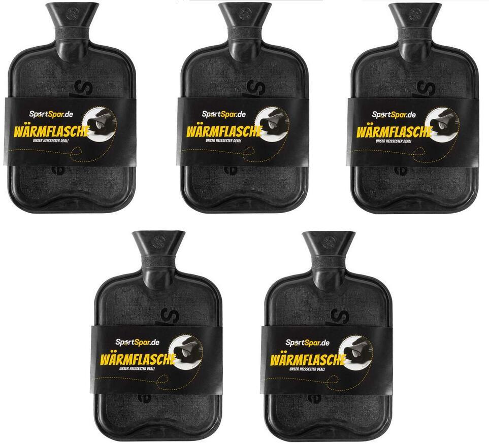 5 Wärmflaschen CouchPotato (2 Liter, In schwarz und gelb verfügbar)