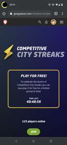 [GeoGuessr] Competitive City Streaks free2play
