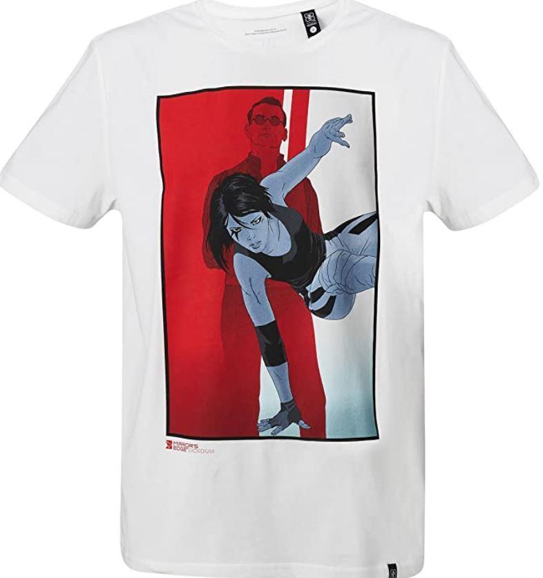 GOZOO Mirror's Edge T-Shirt Herren Exordium- Faith Weiss