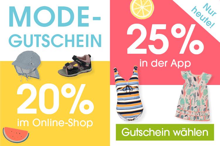 25% Rabatt auf Mode in der babymarkt.de-App