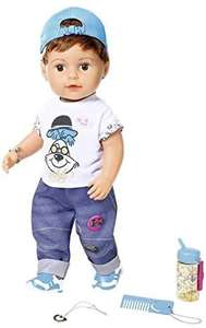 Zapf Creation - BABY born Soft Touch Brother Puppe, 43 cm (30,36€) & Hauck - Babywippe 'Bungee Deluxe' mit Spielbogen (29,06€)