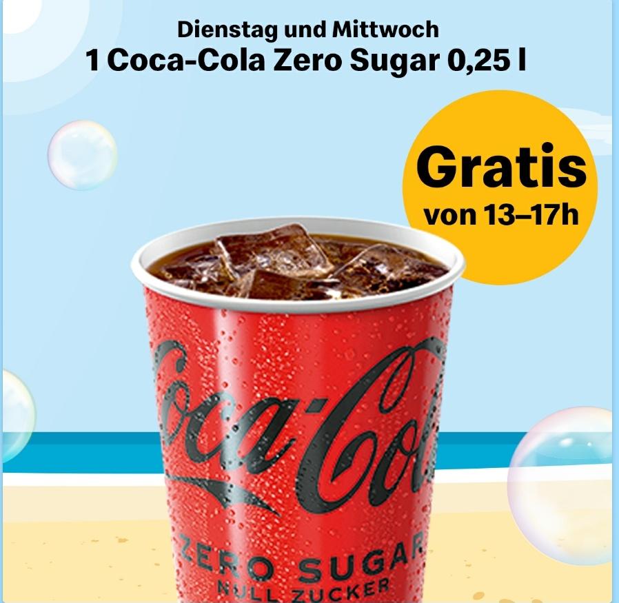 McDonald's Summer Weeks: Gratis Coca Cola Zero Dienstags und Mittwochs