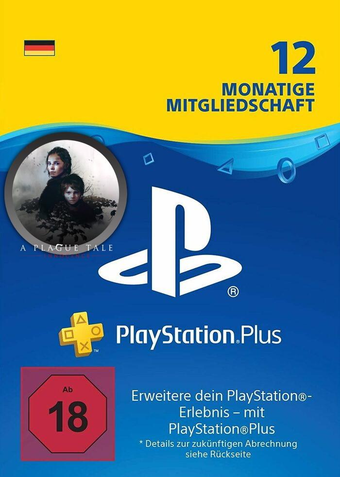 12 Monate PlayStation Plus (für deutsche Konten, auch mit bestehendem PS+ Abo verwendbar, Faktor 0.74)