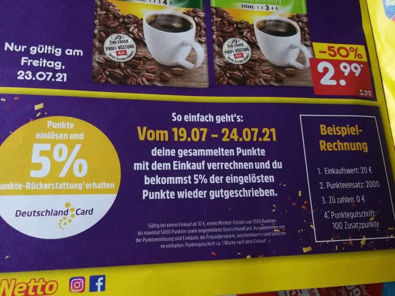 [Netto MD] 5% Rückerstattung bei Einlösung von DeutschlandCard Punkten